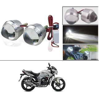 AutoStark Ultra Bright Scooty/Motorcycle/Bike White Flasher Led Fog Light- Set Of 2 For Hero Hunk