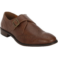 Bond Street By Red Tape Tan Lace-Up Monks Formal Shoes