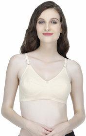 Elina Cream Cotton Non- Padded Bra