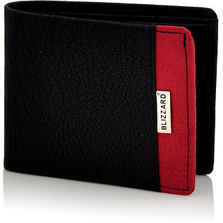 Blizzard Men'S Casual Formal Black Artificial Leather Wallet 7 Card Slots