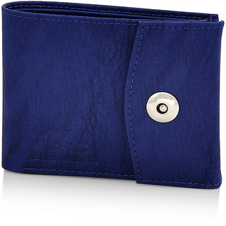 Blizzard Men's Casual,Formal Blue Artificial Leather Wallet (9 Card Slots)