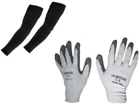 MPI Bike Riding Multipurpose Gloves and Hand Sleeve Combo