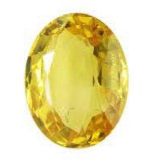 7.5 Ratti Yellow Sapphire Pukhraj Stone Original Certified Natural Gemstone