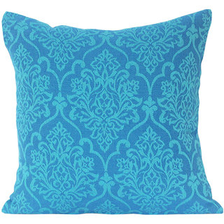 Blueberry Home Indian Ethnic Woven Design 16 x 16 Inch Cushion Cover
