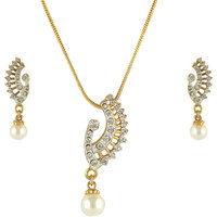 Dg Jewels 24k Gold Plated Bollywood Exotic Pearl Pendant Set-CPS8054