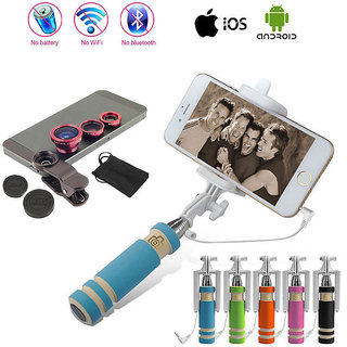 Accincart Mini Selfie And Mobile Camera Lens -Combo For all Smartphones