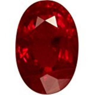 AJ Retail  GEMS Burma Ruby / Manik Lab Certified Natural Gemstone 5.50 Ratti