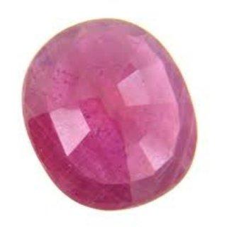 AJ Retail  GEMS Burma Ruby / Manik Lab Certified Natural Gemstone 6 Ratti