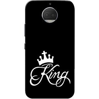 buy online 71d43 c547f Moto G5s Plus Case, King Black White Slim Fit Hard Case Cover/Back Cover  for Motorola Moto G5s Plus