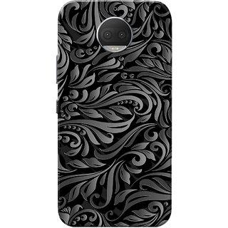 Moto G5s Plus Case, Leafes Design Grey Black Slim Fit Hard Case Cover/Back Cover for Motorola Moto G5s Plus