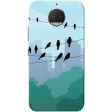 Moto G5s Plus Case, Crow Blue Black Slim Fit Hard Case Cover/Back Cover for Motorola Moto G5s Plus