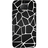 Moto G5s Plus Case, Abstract Silver Black Slim Fit Hard Case Cover/Back Cover for Motorola Moto G5s Plus