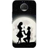 Moto G5s Plus Case, Moonlight Lovers White Black Slim Fit Hard Case Cover/Back Cover for Motorola Moto G5s Plus