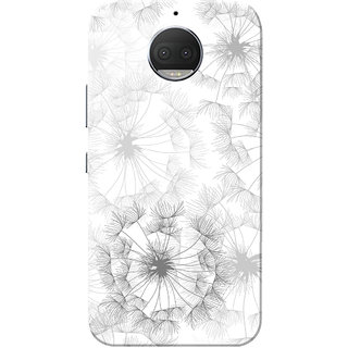 Moto G5s Plus Case, Flowers White Slim Fit Hard Case Cover/Back Cover for Motorola Moto G5s Plus