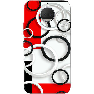 Moto G5s Plus Case, Circles White Red Black Slim Fit Hard Case Cover/Back Cover for Motorola Moto G5s Plus