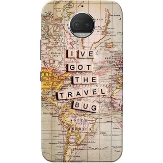 Moto G5s Plus Case, Travel Bug Slim Fit Hard Case Cover/Back Cover for Motorola Moto G5s Plus