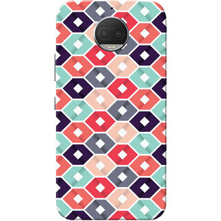 Moto G5s Plus Case, Multi Square Slim Fit Hard Case Cover/Back Cover for Motorola Moto G5s Plus