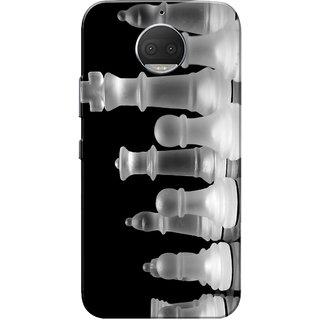 Moto G5s Plus Case, Chess White Black Slim Fit Hard Case Cover/Back Cover for Motorola Moto G5s Plus
