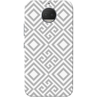 Moto G5s Plus Case, Grey Square Pattern White Slim Fit Hard Case Cover/Back Cover for Motorola Moto G5s Plus