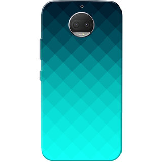 Moto G5s Plus Case, Aqua Shade Abstract Slim Fit Hard Case Cover/Back Cover