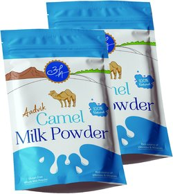 Aadvik Camel Milk Powder (Freeze Dried, Gluten Free, No Additives, No Preservatives) - 200g X 2