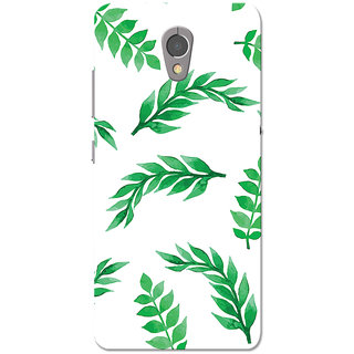 reputable site 54965 8a3c4 Lenovo P2 Case, Green Leafs White Slim Fit Hard Case Cover/Back Cover for  Lenovo Vibe P2