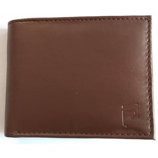 Pockester Men Brown Genuine Leather Wallet