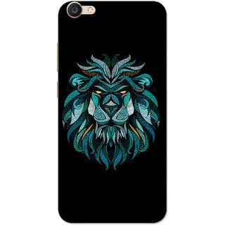 Vivo Y66 Case, Vivo V5 Lite Case, Lion Blue Black Slim Fit Hard Case Cover/Back Cover for V5 Lite/Vivo Y66