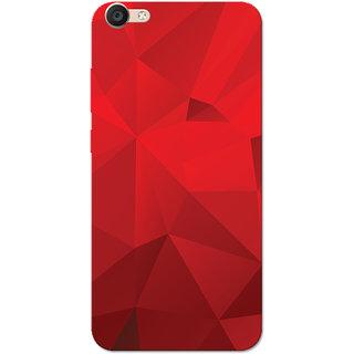 Vivo Y66 Case, Vivo V5 Lite Case, Dark Red Crystal Print Slim Fit Hard Case  Cover/Back Cover for V5 Lite/Vivo Y66
