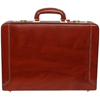 C Comfort Genuine Leather Expandable Office Bag Briefcase EL511