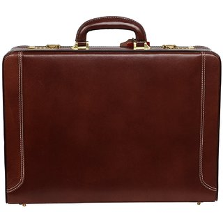 C Comfort Genuine Leather Expandable Office Bag Briefcase EL510