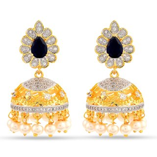 Tistabene Retails Floral American Diamonds Stylish Party Wear Jhumki Earring For Women And Girls (ER-0824)