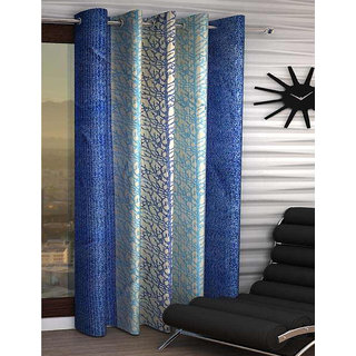 India Furnish Eyelet Fancy Polyester 1 Piece Window & Door Curtain Set - 72