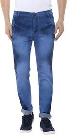 Routeen Men's Blue Slim Fit Jeans