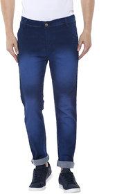 Routeen Fancy Fresko Heavy Washed Slim Stretch Denim Jeans Pants for Men