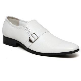 C Comfort White Men Formal Genuine Leather Slip On Shoes
