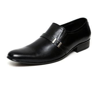 C Comfort Black Men Formal Genuine Leather Slip On Shoes