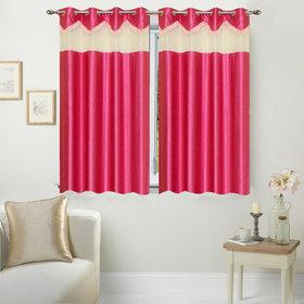 AngelHome Set of 2 Window Eyelet Curtains Plain Aqua