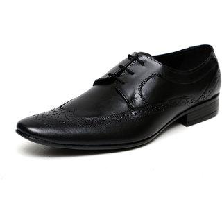 C Comfort Black Men Formal Genuine Leather Lace up Shoes