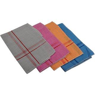 Rumal cotton Men's Handkerchief (Multicolor, Pack of 6