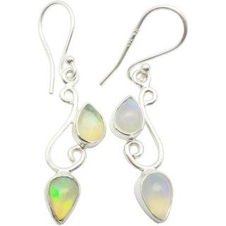 Shardajewels SJE-102 Multi Ethiopian Opal Earring