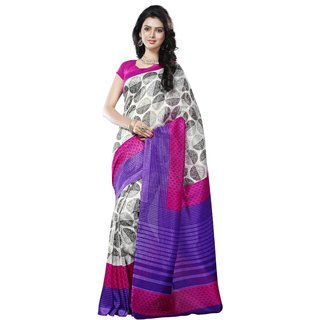 7af45f22c9 Buy Pagazo Women's Blue Printed Bhagalpuri Silk Saree With Blouse ...
