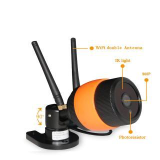 D3D Wireless 960P HD Outdoor Waterproof IP Wifi CCTV Outdoor Security Camera Model - D8016P