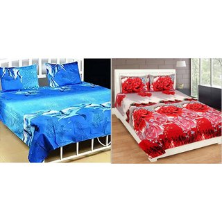 Angel Home Premium Quality Double Bedsheets Set Of 2 (002)