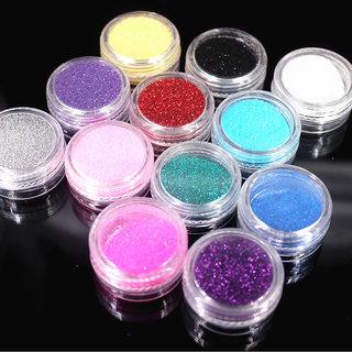 ANY 6 Colorful Glitter Nail Art Dust Tool Kit  Gem Polish Nail Tools 3D Nail Art Decorations Nail Glitter Powder 2017