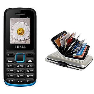 Buy IKall K11 Blue multimedia Mobile Phone and Get Free Aluminium Wallet