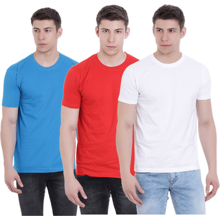 FAB69 Solid Men's Round Neck 3 Pcs Combo  T-Shirt