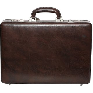 C Comfort Genuine Leather Expandable Briefcase Office Bag EL501