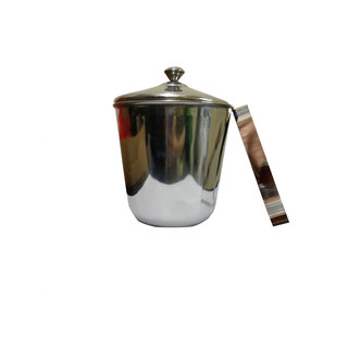 Set of 2 India Bucket with lid  Ice Tong