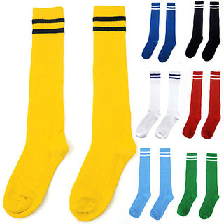 2 Pair Footballs instockings Assorted Colors Socks